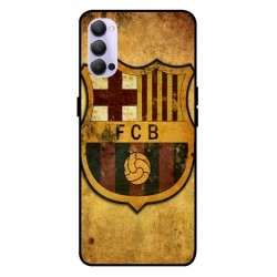 Durable FC Barcelona Cover For Oppo Reno 4 5G