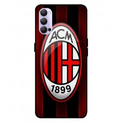 Durable AC Milan Cover For Oppo Reno 4 5G