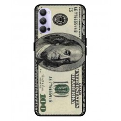 Durable 100 Dollar Note Cover For Oppo Reno 4 5G