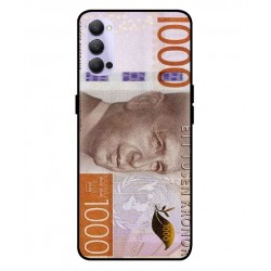 Durable 1000Kr Sweden Note Cover For Oppo Reno 4 5G