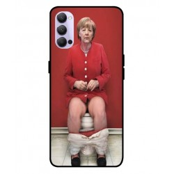 Durable Angela Merkel On The Toilet Cover For Oppo Reno 4 Pro