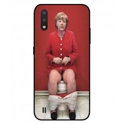 Durable Angela Merkel On The Toilet Cover For Samsung Galaxy M01