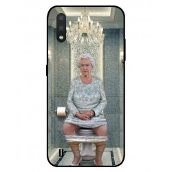 Durable Queen Elizabeth On The Toilet Cover For Samsung Galaxy M01
