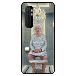 Durable Queen Elizabeth On The Toilet Cover For Xiaomi Mi Note 10 Lite