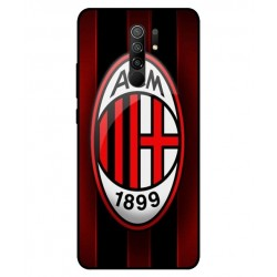 Durable AC Milan Cover For Xiaomi Redmi 9