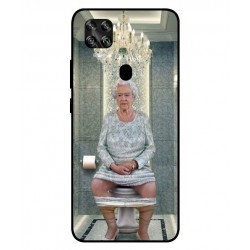 Durable Queen Elizabeth On The Toilet Cover For ZTE Axon 11 SE 5G