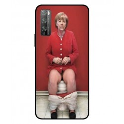 Durable Angela Merkel On The Toilet Cover For Huawei Enjoy 20 Pro