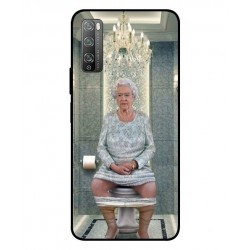 Durable Queen Elizabeth On The Toilet Cover For Huawei Enjoy 20 Pro