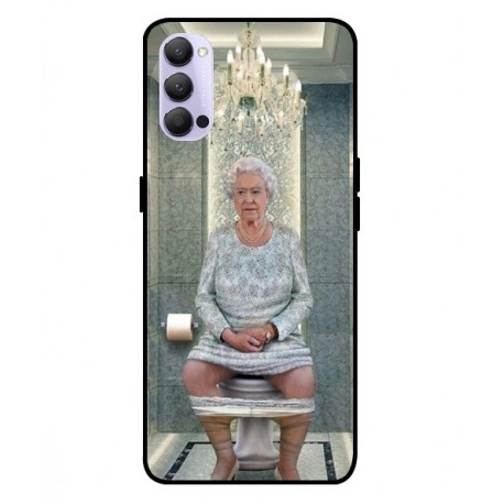 Durable Queen Elizabeth On The Toilet Cover For Oppo Reno 4 Pro 5G