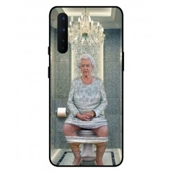 Durable Queen Elizabeth On The Toilet Cover For OnePlus Nord
