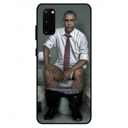 Durable Obama On The Toilet Cover For Samsung Galaxy S20 FE
