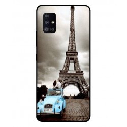 Durable Paris Eiffel Tower Cover For Samsung Galaxy A51 5G UW