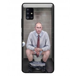 Durable Vladimir Putin On The Toilet Cover For Samsung Galaxy A51 5G UW