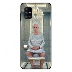 Durable Queen Elizabeth On The Toilet Cover For Samsung Galaxy M51