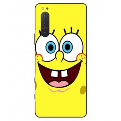 Durable SpongeBob Cover For Sony Xperia 5 II