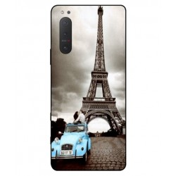 Durable Paris Eiffel Tower Cover For Sony Xperia 5 II