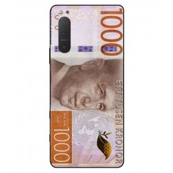 Durable 1000Kr Sweden Note Cover For Sony Xperia 5 II
