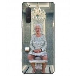 Durable Queen Elizabeth On The Toilet Cover For Sony Xperia 5 II