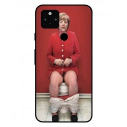 Durable Angela Merkel On The Toilet Cover For Google Pixel 5