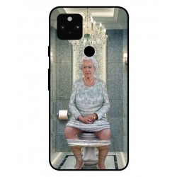 Durable Queen Elizabeth On The Toilet Cover For Google Pixel 5