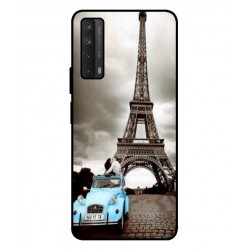 Durable Paris Eiffel Tower Cover For Huawei P smart 2021