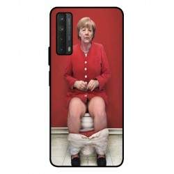 Durable Angela Merkel On The Toilet Cover For Huawei P smart 2021