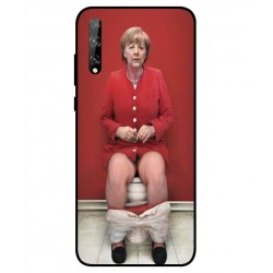 Durable Angela Merkel On The Toilet Cover For Huawei P Smart S
