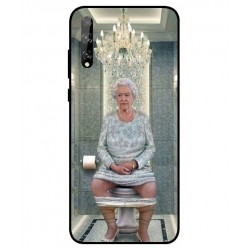 Durable Queen Elizabeth On The Toilet Cover For Huawei P Smart S