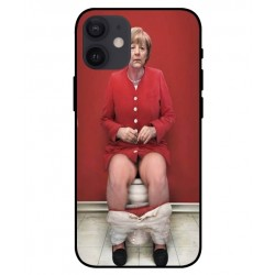 Durable Angela Merkel On The Toilet Cover For iPhone 12 mini