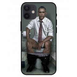 Durable Obama On The Toilet Cover For iPhone 12 mini