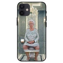 Durable Queen Elizabeth On The Toilet Cover For iPhone 12 mini