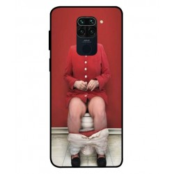 Durable Angela Merkel On The Toilet Cover For Xiaomi Redmi Note 9