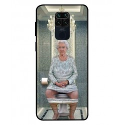 Durable Queen Elizabeth On The Toilet Cover For Xiaomi Redmi Note 9