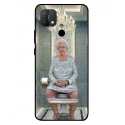 Durable Queen Elizabeth On The Toilet Cover For Oppo A15