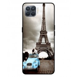 Durable Paris Eiffel Tower Cover For Oppo A93