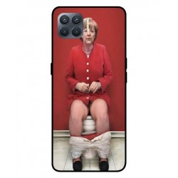Durable Angela Merkel On The Toilet Cover For Oppo A93