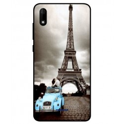 Durable Paris Eiffel Tower Cover For Wiko Y60