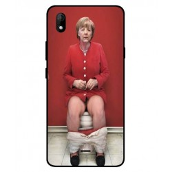 Durable Angela Merkel On The Toilet Cover For Wiko Y61