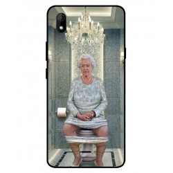Durable Queen Elizabeth On The Toilet Cover For Wiko Y61