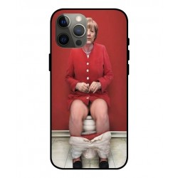 Durable Angela Merkel On The Toilet Cover For iPhone 12 Pro Max