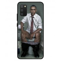 Durable Obama On The Toilet Cover For Samsung Galaxy A02s