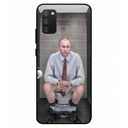 Durable Vladimir Putin On The Toilet Cover For Samsung Galaxy A02s