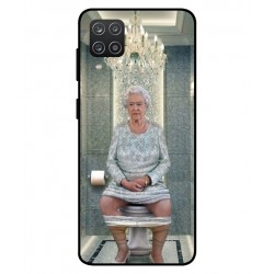 Durable Queen Elizabeth On The Toilet Cover For Samsung Galaxy A12