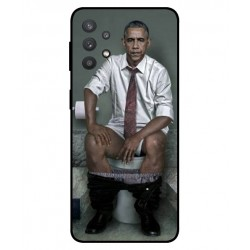 Durable Obama On The Toilet Cover For Samsung Galaxy A32 5G