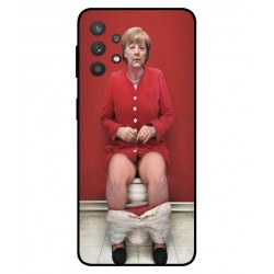 Durable Angela Merkel On The Toilet Cover For Samsung Galaxy A32 5G