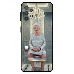 Durable Queen Elizabeth On The Toilet Cover For Samsung Galaxy A32 5G