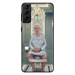 Durable Queen Elizabeth On The Toilet Cover For Samsung Galaxy S21