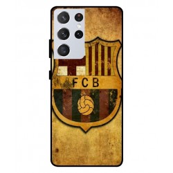 Durable FC Barcelona Cover For Samsung Galaxy S21 Ultra