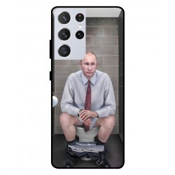 Durable Vladimir Putin On The Toilet Cover For Samsung Galaxy S21 Ultra