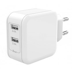 4.8A dobbel USB-lader For iPhone 7